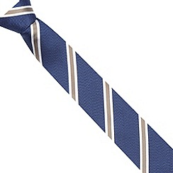 Hammond & Co. by Patrick Grant - Designer navy striped silk tie