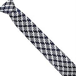 Hammond & Co. by Patrick Grant - Designer blue textured stitch silk tie