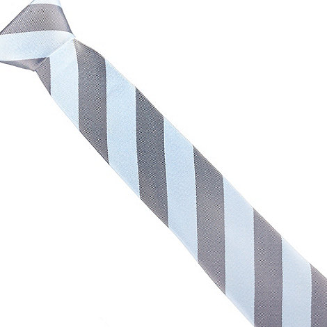 Hammond & Co. by Patrick Grant - Designer light blue tonal striped silk tie