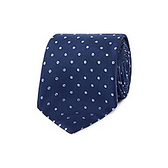 Hammond & Co. by Patrick Grant - Designer navy polka dot silk tie