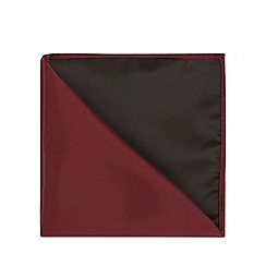 Black Tie - Red plain pocket square