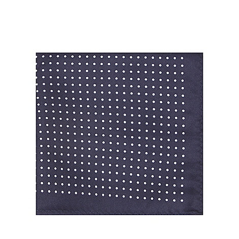 Black Tie - Navy paisley pocket square