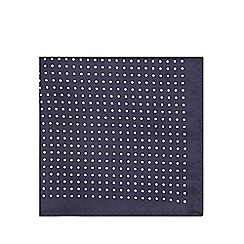 Black Tie - Navy polka dot pocket square