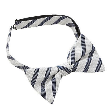Hammond & Co. by Patrick Grant - Designer pale blue striped tied bow tie