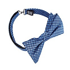 Hammond & Co. by Patrick Grant - Designer blue dogtooth silk bow tie
