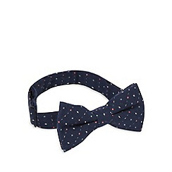 Red Herring - Navy lightening print bow tie