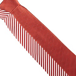 Thomas Nash - Pack of two red striped and spotted ties