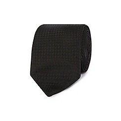 Red Herring - Black wide textured stripe skinny tie