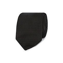 Red Herring - Black wide textured stripe skinny tie