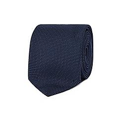 Red Herring - Navy pin dot skinny tie