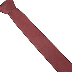 Red Herring - Dark red textured slim tie