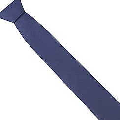 Red Herring - Navy textured slim tie