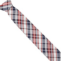 Red Herring - Red tartan slim tie
