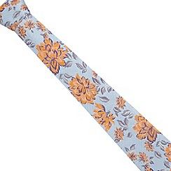 Jeff Banks - Designer blue floral silk tie