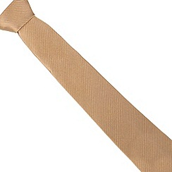 Jeff Banks - Designer gold striped silk tie