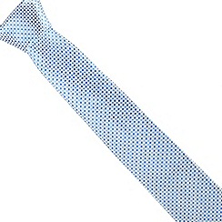 Jeff Banks - Designer pale blue silk diamond tie