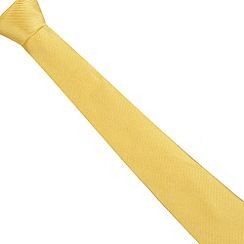 Jeff Banks - Designer yellow ribbed silk tie