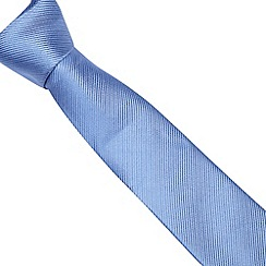 Jeff Banks - Designer blue ribbed silk tie