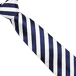J by Jasper Conran - Designer navy striped silk tie