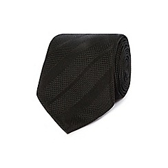 J by Jasper Conran - Designer black textured striped tie