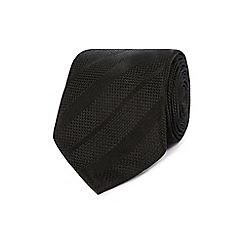 J by Jasper Conran - Designer black textured striped tie