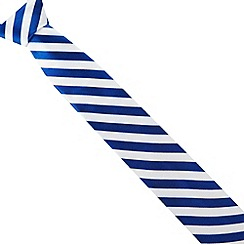 J by Jasper Conran - Designer dark blue striped silk tie