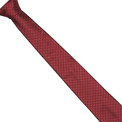 J by Jasper Conran - Designer dark red mini spotted tie