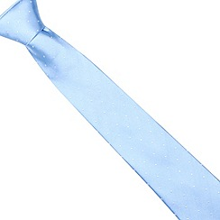 J by Jasper Conran - Designer light blue pin dot silk tie