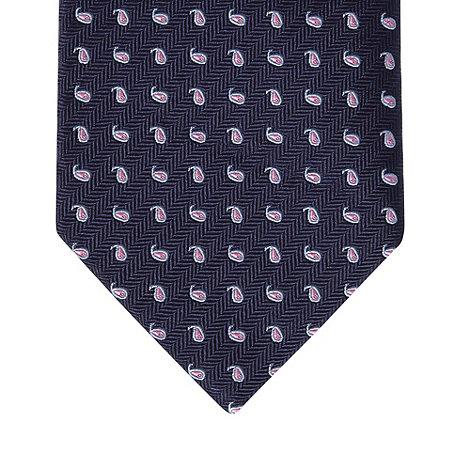 Osborne - Blue mini paisley print tie
