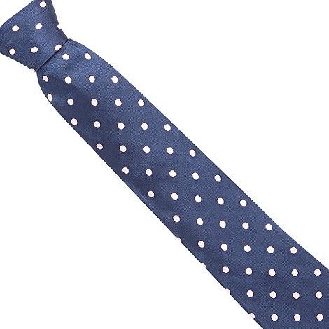 Osborne - Blue large dot print tie