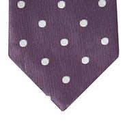Purple large dot print tie