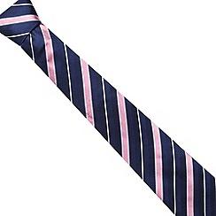 Osborne - Pink contrast striped silk tie