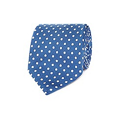 Osborne - Blue spotted silk embroidered tie