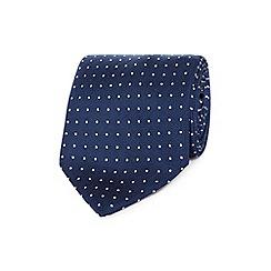 Osborne - Navy pin dot silk tie