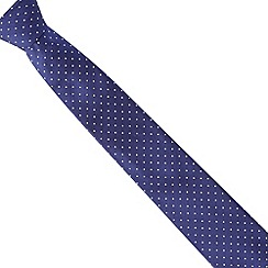 Thomas Nash - Blue herringbone spotted slim tie
