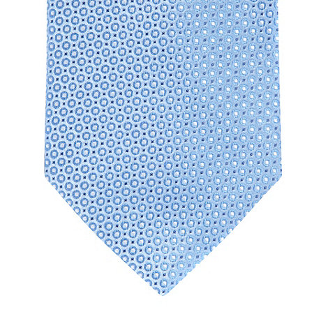 Thomas Nash - Blue mini circle woven silk tie