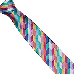 Thomas Nash - Purple geo woven silk tie