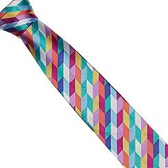 Thomas Nash - Purple geo woven silk tie