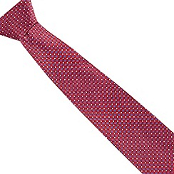 Thomas Nash - Red woven silk diamond pattern tie