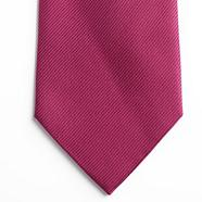 Dark pink textured silk tie