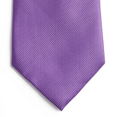 Thomas Nash - Purple textured silk tie