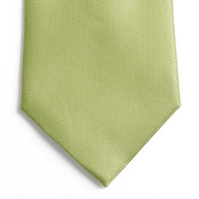 Light Green Textured Silk Tie