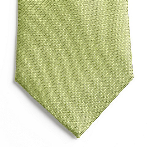 Thomas Nash - Light green textured silk tie