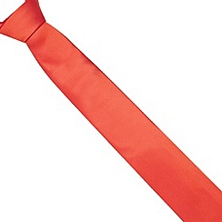 Thomas Nash - Bright red textured silk skinny tie