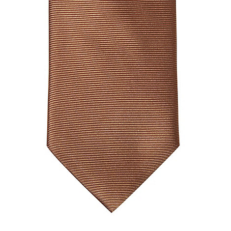 Thomas Nash - Bronze textured silk skinny tie