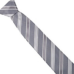 Thomas Nash - Silver diagonal striped tie