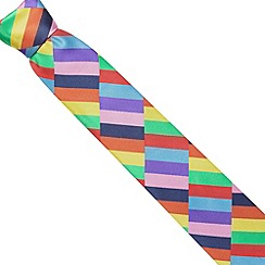Thomas Nash - Multi coloured  rectangles satin tie