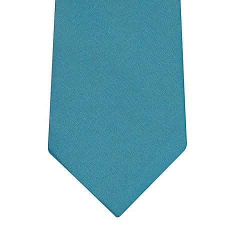 Thomas Nash - Dark turquoise plain tie