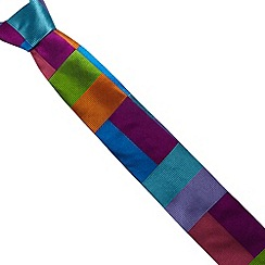 Thomas Nash - Turquoise colour block woven silk tie