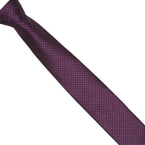 Black Tie - Purple polka dot tie